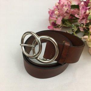 Brown Genuine Leather Italian Belt S